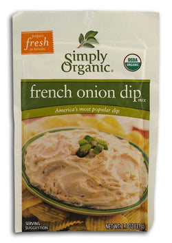 Simply Organic French Onion Dip Mix Organic - 12 x 1.1 ozs.