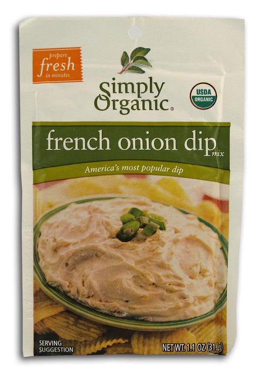 Simply Organic French Onion Dip Mix Organic - 3 x 1.1 ozs.