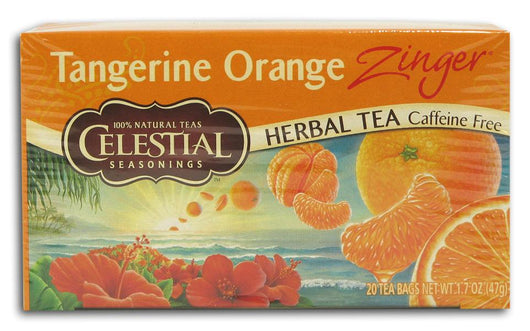 Celestial Seasonings Tangerine Orange Zinger Tea - 6 x 1 box
