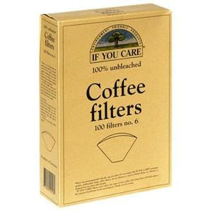 If You Care Coffee Filters, No. 6, 100% Unbleached - 100 filters