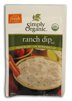 Simply Organic Ranch Dip Mix Organic - 12 x 1.5 ozs.