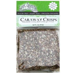 Livin' Spoonful Sprouted Crackers, Caraway Crisps - 2.8 ozs.