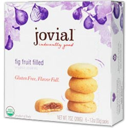 Jovial Foods Cookies, Fig Fruit Filled, Gluten Free, Organic - 7 ozs.