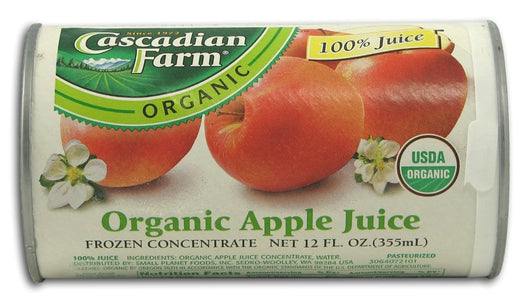 Cascadian Farm *Frozen Apple Juice Organic - 12 x 12 ozs.