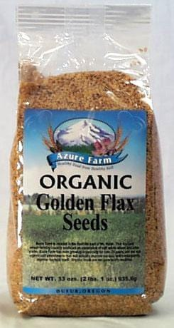 Azure Farm Flax Seeds Golden Organic - 4 x 33 ozs.