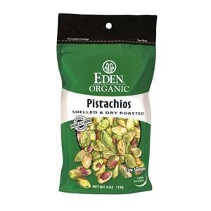 Eden Foods Pistachios Shelled Dry Roasted Organic - 4 ozs.