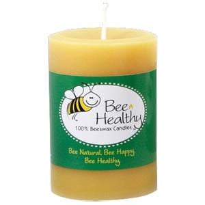 Bee Healthy Candles Candle, Beeswax, Pillar 3 x 4 - 1 each