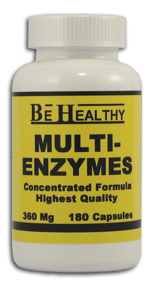Be Healthy Multi-Enzymes - 180 caps