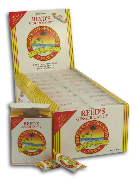 Reed's Ginger Candy Chews - 20 x 2 ozs.