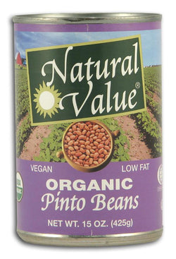 Natural Value Pinto Beans- Canned Organic - 15 ozs.
