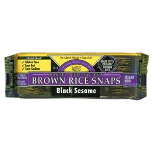 Edward & Sons Brown Rice Snaps Black Sesame - 3.5 ozs.