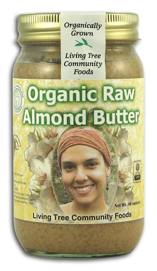 Living Tree Community Almond Butter Raw Organic - 16 ozs.