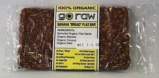 Go Raw Banana Bread Flax Bar - 30 x 1.7 ozs.
