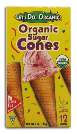 Let's Do...Organic Sugar Cones Organic - 12 cones