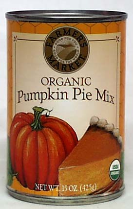 Farmer's Market Pumpkin Pie Mix Organic - 12 x 15 ozs.