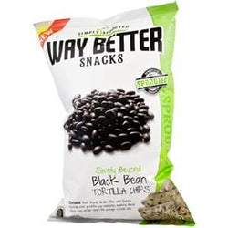 Way Better Snacks Tortilla Chips, Sprouted, Beyond Black Beans - 12 x 5.5 oz