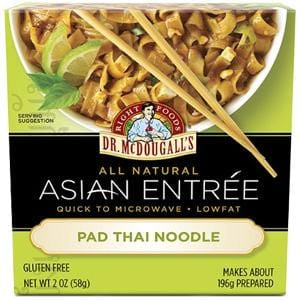 Dr. McDougall's Right Foods Asian Entree Pad Thai Noodles, Gluten Free - 6 x 2 ozs.