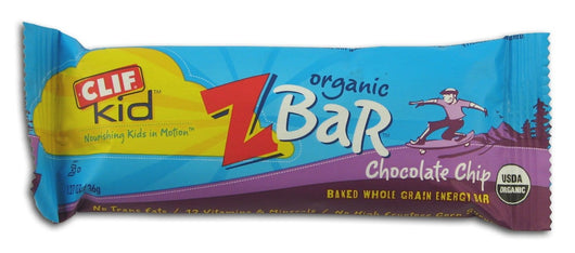 Clif Bar Chocolate Chip Z Bar Organic - 18 x 1.27 ozs.