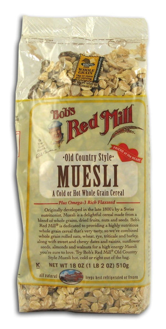 Bob's Red Mill Muesli Old Country Style - 4 x 18 ozs.