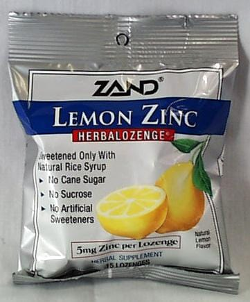 Zand Lemon Zinc Lozenges - 3 x 1 pk.
