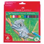 Faber Castell Pencils GRIP Triangular Colored Pencils 24 count