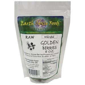 Earth Circle Organics Golden Berries, Dried, Organic - 8 ozs.