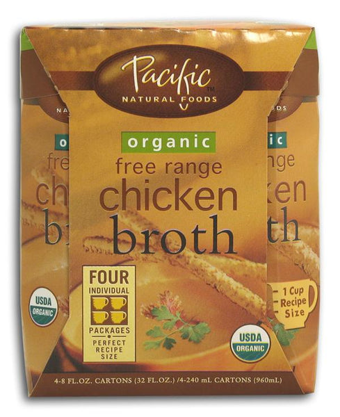 Pacific Foods Broth Chicken Organic - 4 x 8 ozs.