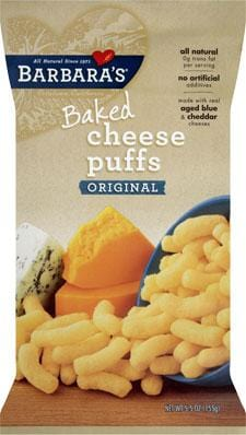 Barbara's Bakery Cheese Puff Bakes Wheat Free - 3 x 5.5 ozs.