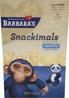 Barbara's Bakery Snackimals Vanilla - 7.5 ozs.