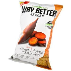 Way Better Snacks Tortilla Chips, Sprouted, Simply Sweet Potato - 12 x 5.5 oz