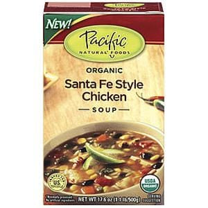 Pacific Foods Santa Fe Style Chicken Soup, Organic - 17.6 ozs.