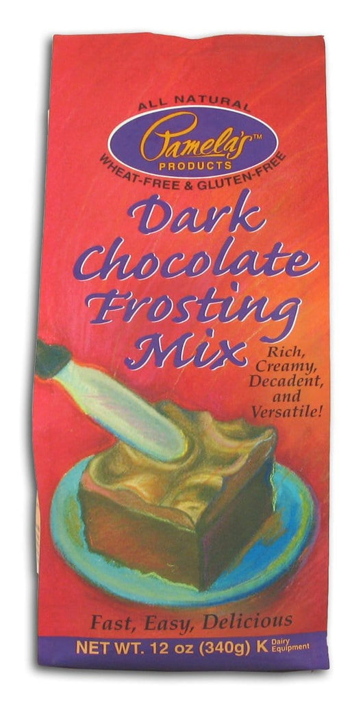 Pamela's Dark Chocolate Frosting Mix - 6 x 12 ozs.