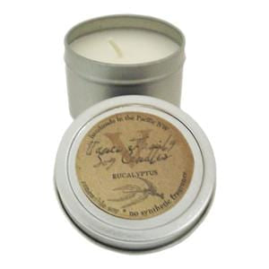 Vance Family Soy Candles Soy Candle, Eucalyptus, in Tin, Non-GMO - 2.75 ozs.