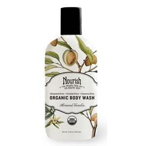 Nourish Body Wash Almond Vanilla, Organic - 12 x 10 ozs.
