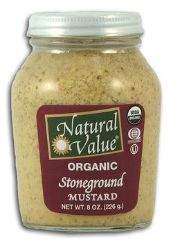 Natural Value Stone Ground Mustard Organic - 8 ozs.