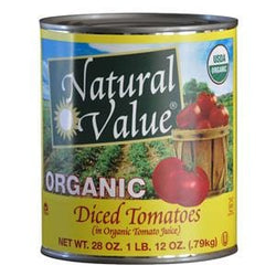 Natural Value Tomatoes, Diced, Organic - 12 x 28 ozs.