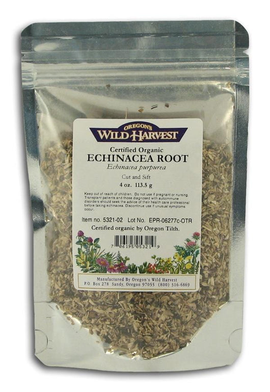 Oregon's Wild Harvest Echinacea Root Cut & Sifted Organic - 4 ozs.
