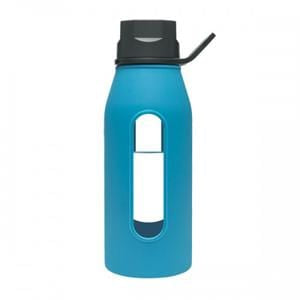 Takeya Glass Water Bottle, Blue - 16 ozs.