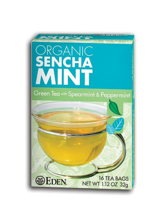 Eden Foods Sencha Mint Tea Bags Organic - 1 box