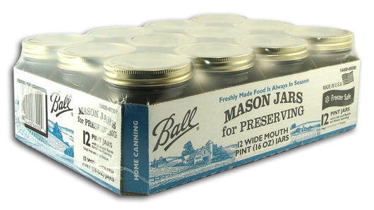 Ball Canning Jars Pint Wide Mouth - Case/12