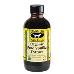 Singing Dog Vanilla Extract, Pure, Organic - 12 x 4 ozs.