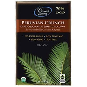 Coconut Secret Chocolate Crunch Bar, Peruvian Dark, Organic - 12 x 2.25 oz
