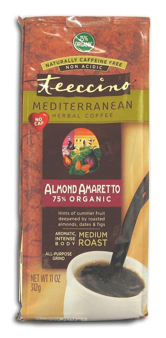 Teeccino Almond Amaretto Herbal Coffee - 6 x 11 ozs.