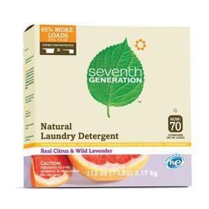 Seventh Generation Laundry Powder, Real Citrus & Wild Lavender 70 Loads - 4 x 112 ozs.