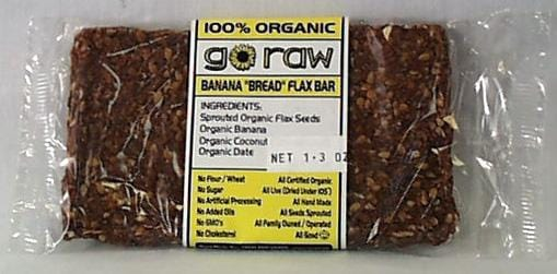 Go Raw Banana Bread Flax Bar - 3 x 1.7 ozs.