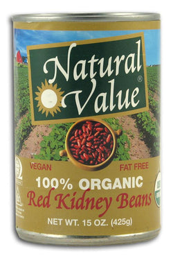 Natural Value Red Kidney Beans Organic - 12 x 15 ozs.