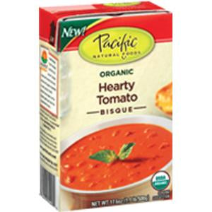 Pacific Foods Hearty Tomato Bisque Soup, Organic - 17.6 ozs.