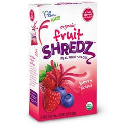 Plum Organics Fruit Shredz, Berry Licious shreds, Organic - 8 x 3.15 oz