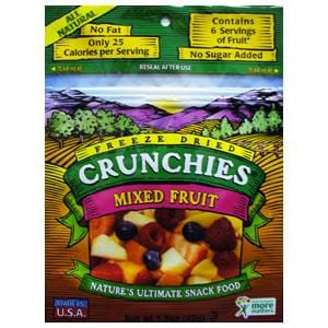 Crunchie's Mixed Fruit, Freeze Dried - 6 x 1.5 ozs.