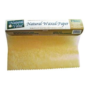 Natural Value Waxed Paper Unbleached 75 FT - 12 x 1 box